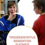 Taiteen perusopetusliiton Taide rakentaa Suomea -esitteen kansi.