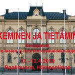 NÄKEMINEN JA TIETÄMINEN - Suomen lasten ja nuorten kuvataidekoulujen liiton Kevätpäivät Hämeenlinnassa 11.-12.4.2019