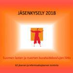 Kuvataidekoulujen liiton jäsenkysely 2018 -mainoskuva.