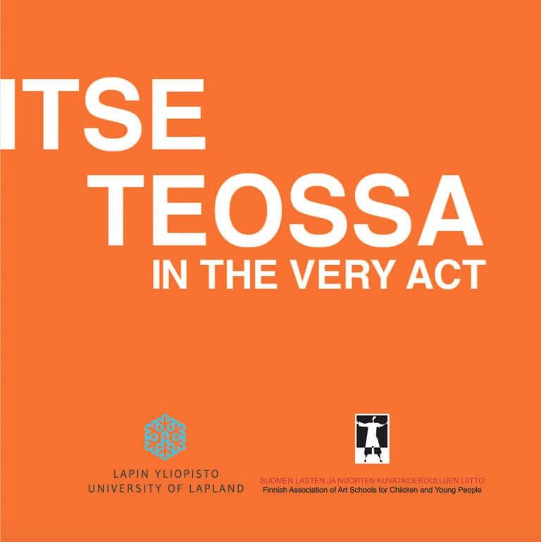 ITSE TEOSSA -näyttelykatalogin kansikuva.