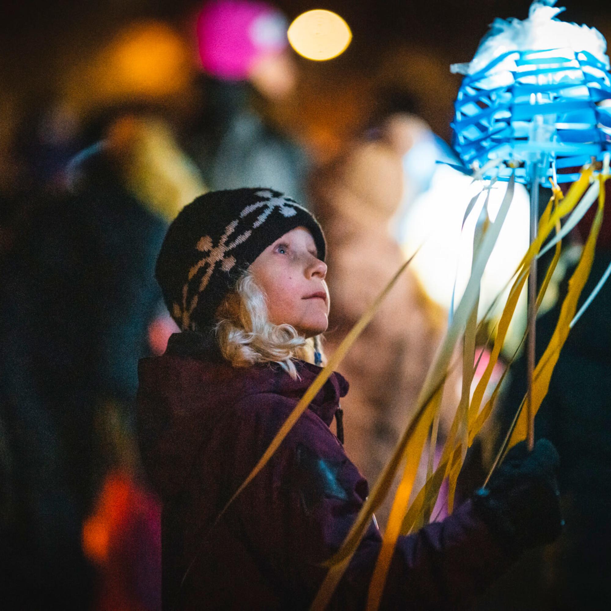 Vaasan kaupungin taiteen perusopetuksen (TaiKon) VALOA – LJUS -tapahtuma 20.11.2019.