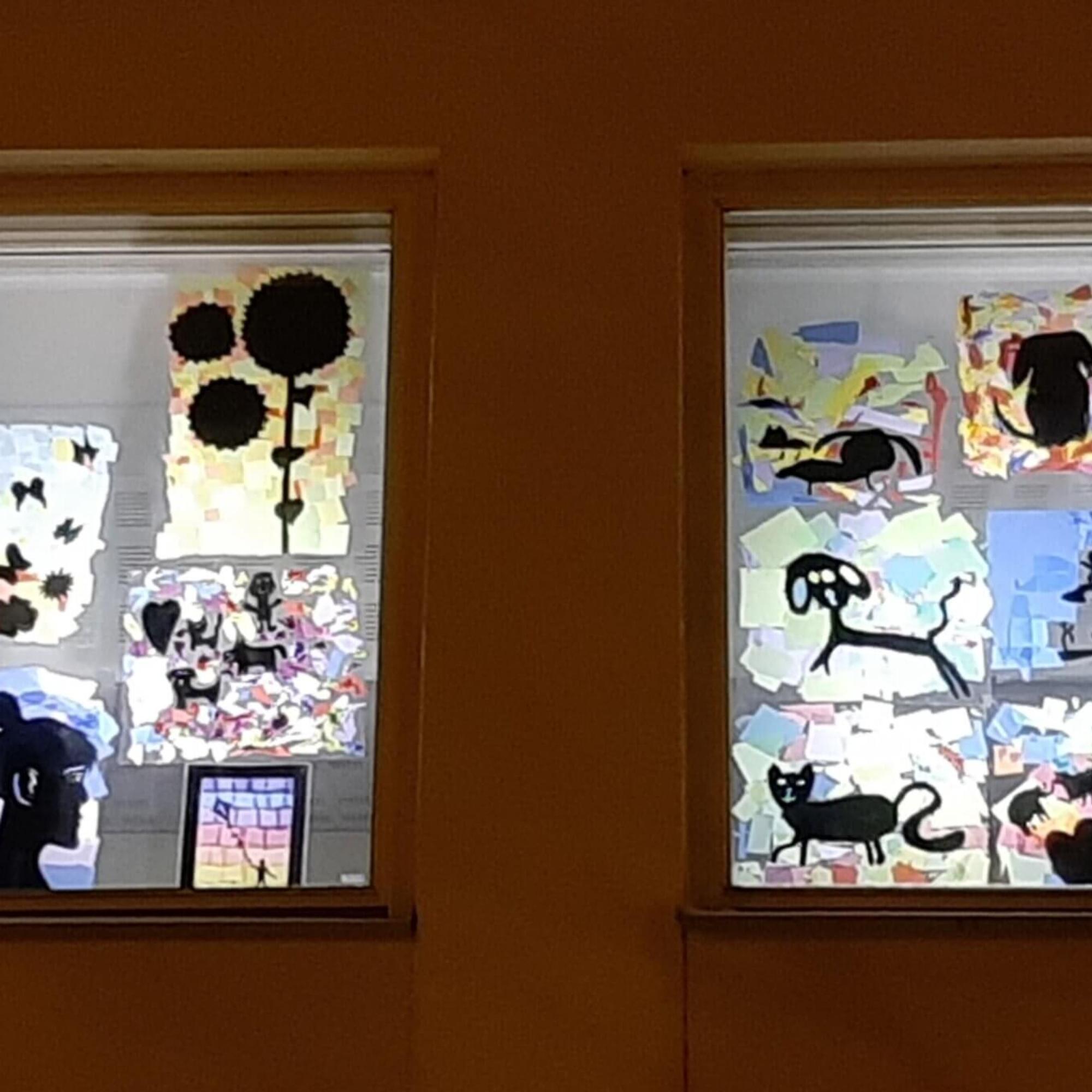Soisalo-opiston Ilo-ikkunataideteos Lapsen oikeuksien päivänä 20.11.2020.