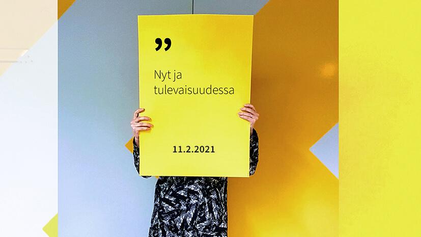 Iso kuva -hankkeen NYT JA TULEVAISUUDESSA -webinaarin mainoskuva.