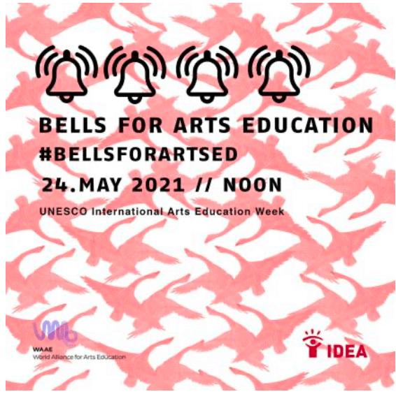 Unescon kansainvälisen taidekasvatusviikon kampanjakuva 2021.